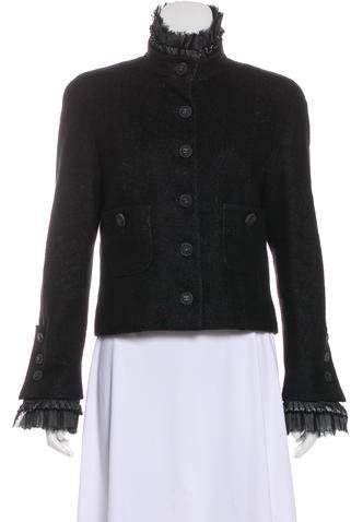 Chanel Ruffled Linen Jacket