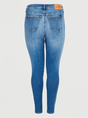 Calvin Klein Jeans High Rise Skinny Jeans - Denim