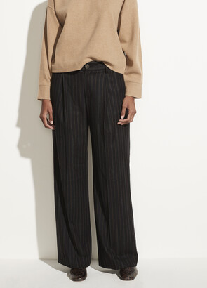 Vince Flannel Stripe Wide Leg Pant