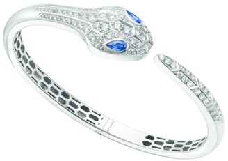 Bvlgari White Gold, Diamond and Sapphire Serpenti Bracelet
