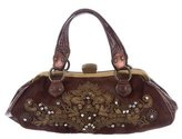 Etro Leather-Trimmed Ponyhair Evening Bag