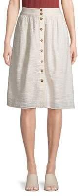 Vero Moda Seersucker A-Line Skirt