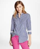 Brooks Brothers Gingham Cotton Poplin Blouse