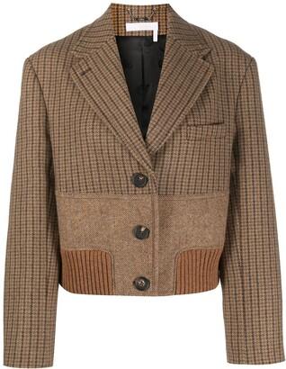 Chloé Cropped Panelled Blazer