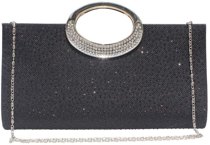 92c15c523840 Labair Womens Glitter Rhinestone Frosted Clutch Bag Evening Handbag Wedding  Party Prom Purse