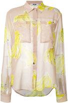 MSGM banana print shirt - women - Polyester - 44