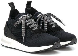 DSQUARED2 TEEN mesh sock sneakers