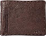 Fossil Ingram International Flip Bifold With Coin Pocket Leather Wallet