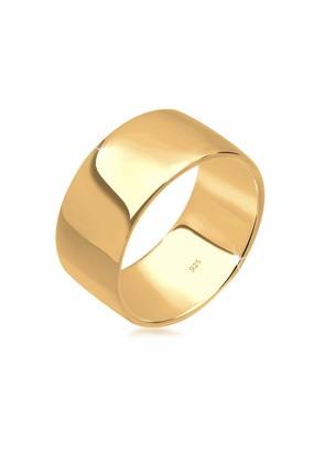 Elli Women Gold Plain Band Ring - Size Q 0610471315_58
