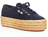 Superga Cotropew Lace Up Platform Espadrille Sneakers