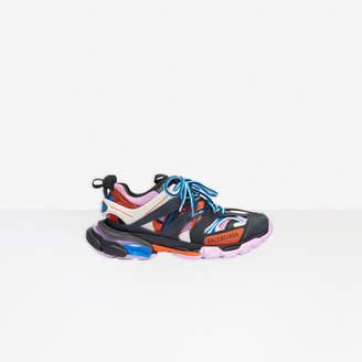 Balenciaga Track Sneaker in black, orange and pink mesh and nylon