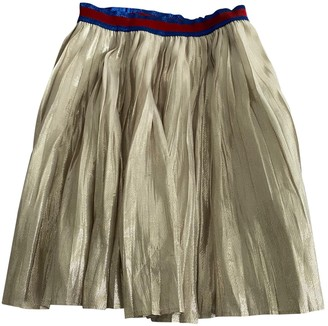 Gucci Gold Synthetic Skirts