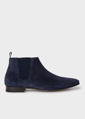 Paul Smith Men's Navy Suede 'Marlowe' Chelsea Boots