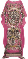 Roberto Cavalli Printed Silk-georgette Maxi Dress - Fuchsia
