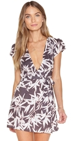 Amuse Society Turner Leaf Print Wrap Dress
