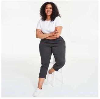 Joe Fresh Women+ Crop Jeans, Black (Size 16)