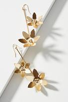 Anthropologie Gilda Flower Duo Drop Earrings