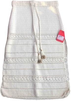 She Made Me Beige Cotton Skirt for Women