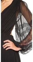 Alice + Olivia Saori Blouson Sleeve Maxi Dress