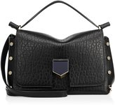 Jimmy Choo LOCKETT/S Black Grainy Leather and Nappa Handbag