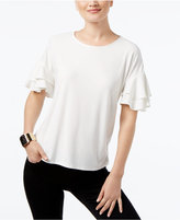 INC International Concepts Petite Tiered-Sleeve Top, Created for Macy's