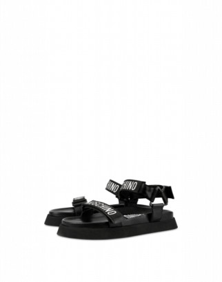Moschino Moschino's Tape Sandals Man Black Size 42 It - (9 Us)