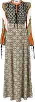 MSGM multi-print longsleeved dress - women - Silk - 40