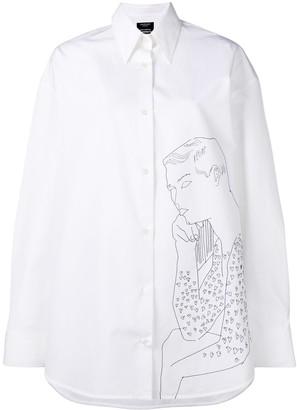 Calvin Klein Oversized Embroidered Shirt