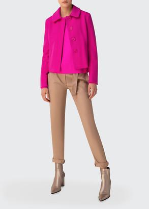Akris Punto Slim Peplum Wool-Cashmere Jacket