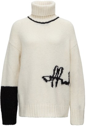 Off-White Sweater With Inlaid Logo