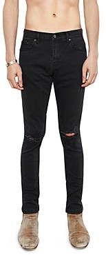 Victoria's Secret The People Skinny Fit Destroyed 1990 Jeans in Faded Black