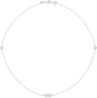 Lily & Roo Sterling Silver Six Pearl Choker Necklace