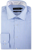 Double Two Dogtooth Patterned Formal Shirt