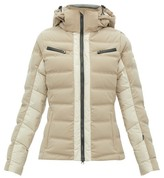 BEIGE Capranea - Vanta Down-filled Quilted Ski Jacket - Womens