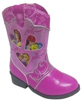 Disney Princess Toddler Girls' Princess Cowboy Western Boots - Pink