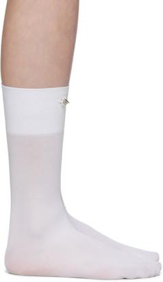 Simone Rocha White Embellished Ankle Socks