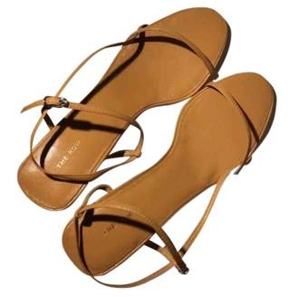The Row Bare Orange Leather Sandals