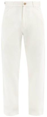 Smr Days - Straight-leg Cotton-herringbone Trousers - Off White