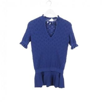 Sandro Blue Suede Knitwear for Women