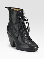 Rag & Bone Lace-Up Leather Ankle Boot