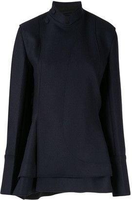 Jil Sander short asymmetric coat