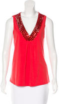 Magaschoni Bead-Embellished Sleeveless Top