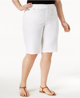 Charter Club Plus Size Twill Shorts, Only at Macy's