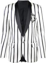 Balmain embroidered striped blazer