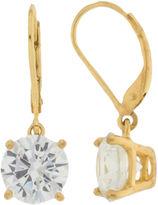 JCPenney FINE JEWELRY Cubic Zirconia Leverback Earrings 14K Gold Over Sterling Silver