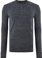 Paul Smith Long Sleeve Henley Top, Grey