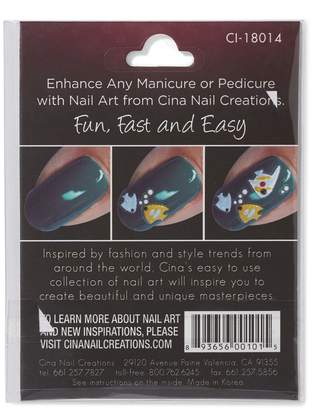 Cina Nail Creations Under The Sea 3-D Nail Art Decals