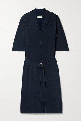 By Malene Birger Sora Belted Stretch-ponte Mini Dress