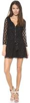 T-Bags Tbags Los Angeles 3/4 Sleeve Crochet Mini Dress