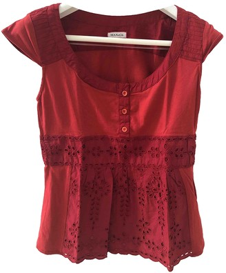 Max & Co. Red Cotton Top for Women